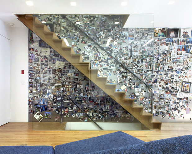 Eclectic Staircase by SLADE ARCHITECTURE