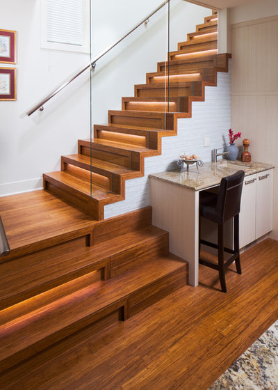 Contemporary Staircase by one house green