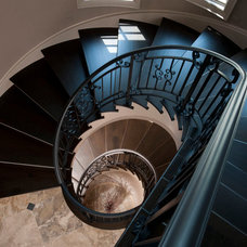 Traditional Staircase by kevin akey - azd architects - michigan