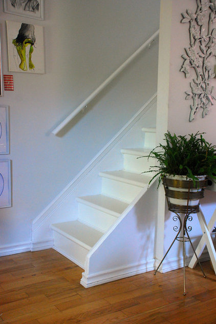 eclectic staircase by Desire to Inspire