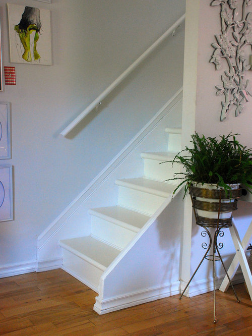 White Painted Stairs Ideas Pictures Remodel And Decor