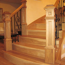 Traditional Staircase by splashcarpentry