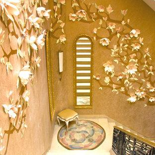 ニューヨークのモダンスタイルのおしゃれな階段の写真