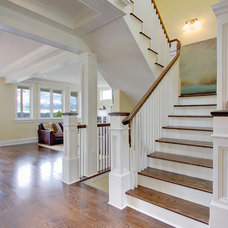 Traditional Staircase by First Lamp
