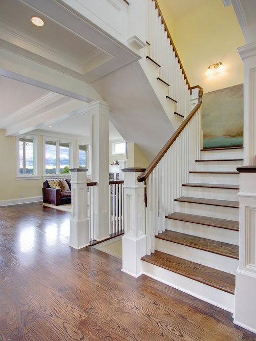 Painted Newel Post Houzz