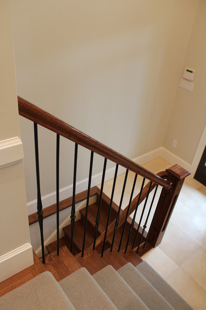 Traditional Staircase by Janis Gosbee Design Inc.