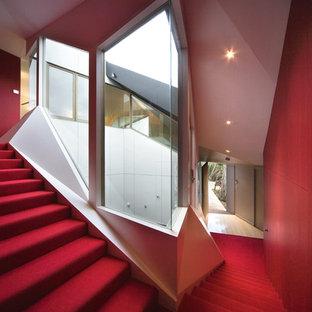 メルボルンのコンテンポラリースタイルのおしゃれな階段の写真