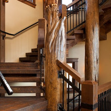 Eclectic Staircase by Kogan Builders