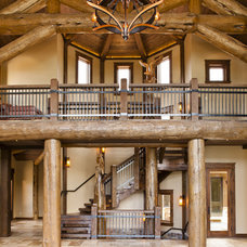 Rustic Staircase by Kogan Builders