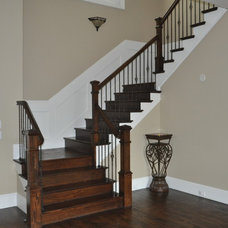 Traditional Staircase by 3rd Street Custom Homes