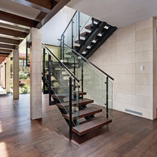Contemporary Staircase by GARY FINLEY, ASID