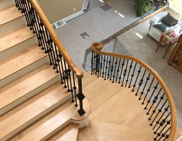 Laguna hills full stairway and landing remodel