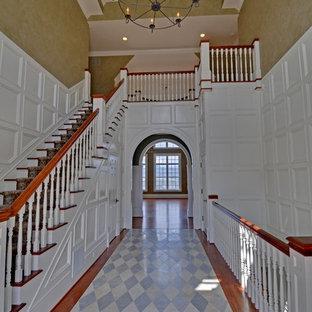 Example of a mountain style staircase design in Atlanta