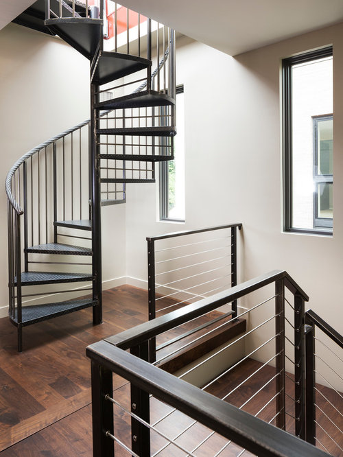 Modern Organic Home By John Kraemer Sons In Minneapolis Usa: 408 Modern Spiral Staircase Design Ideas & Remodel Pictures