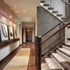 Transitional Staircase by Eskuche Design