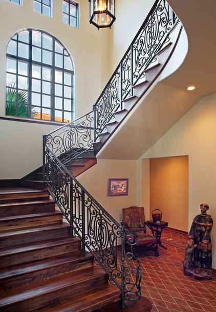 Mediterranean Staircase by Cornerstone Architects