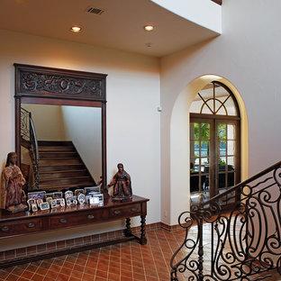 Staircase - mediterranean wooden staircase idea in Austin