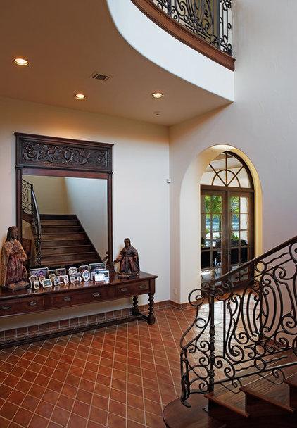 Mediterranean Staircase by Cornerstone Architects
