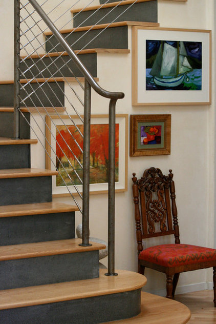Eclectic Staircase by Nan Tofanelli