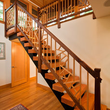 Eclectic Staircase by Phinney Design Group