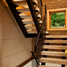 Contemporary Staircase by Phinney Design Group