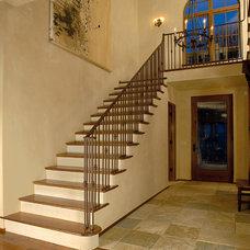 Mediterranean Staircase by Aulik Design Build
