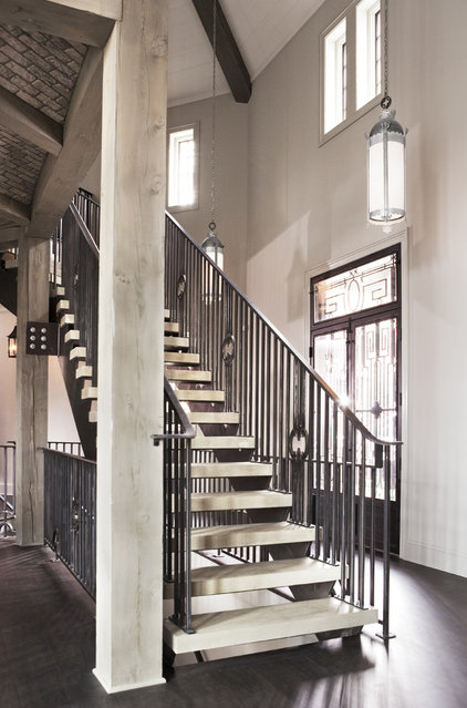 Transitional Staircase by Linda McDougald Design | Postcard from Paris Home