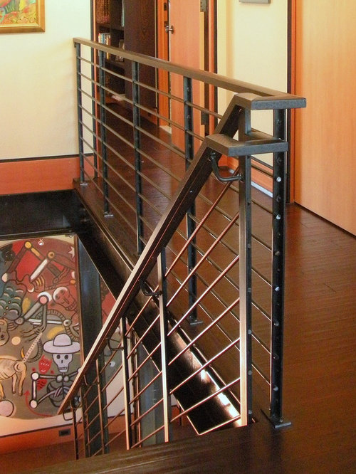 Stair railing detail ideas pictures remodel and decor - Interior stair railing contractors ...