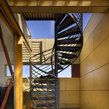 Lake Union Floating Home: Roof Deck Stair