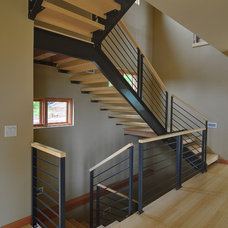 Contemporary Staircase by Haven Design Workshop