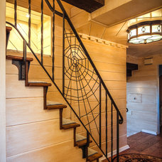 Eclectic Staircase by MGLM Architects