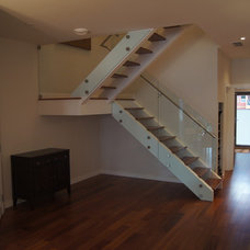 modern staircase by Giroux Design Group