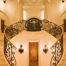 Mediterranean Staircase by Vanguard Studio Inc.