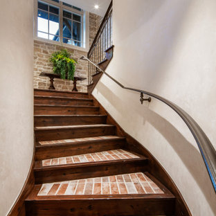 Inspiration for a french country staircase remodel in Salt Lake City