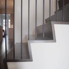 Contemporary Staircase by Joseph Trojanowski Architect PC