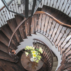 Traditional Staircase by Lerman Construction Management Services
