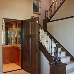 mediterranean staircase by Landmark Builders