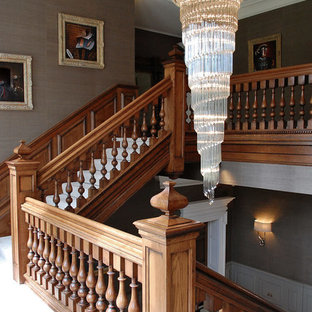 Large Georgian Inspired Oak Staircase and Entrance Hall