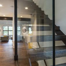 Contemporary Staircase by Sagatov Design-Build