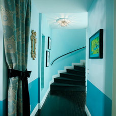 Eclectic Staircase by Woodson & Rummerfield's House of Design