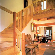 Traditional Staircase by Habitat Post & Beam, Inc.