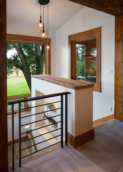 Rustic Staircase by Dovetail Construction