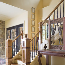 Traditional Staircase by Alan Mascord Design Associates Inc