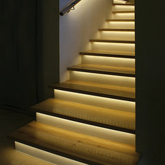 contemporary staircase by Super Bright LEDs