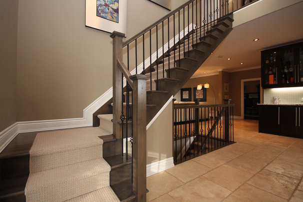 Contemporary Staircase by Masterplan Residential Drafting and Design