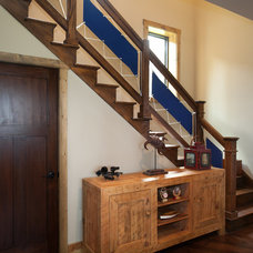 Farmhouse Staircase by Turnstone Builders