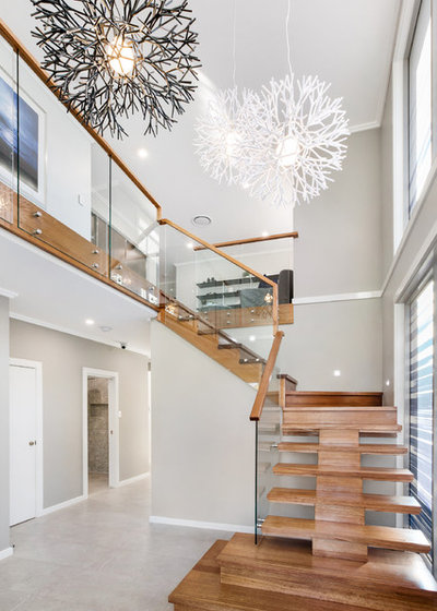 Contemporary Staircase by Firstyle Homes