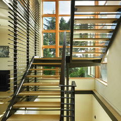contemporary staircase by Adams Mohler Ghillino Architects