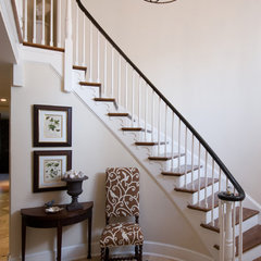 traditional staircase by Leslie Hayes Interiors