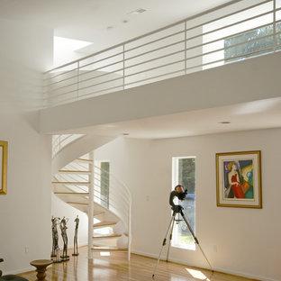 ボルチモアのコンテンポラリースタイルのおしゃれならせん階段の写真